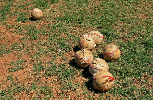 Cuba's financial crisis extends to its national pastime: These balls are used during batting practice.