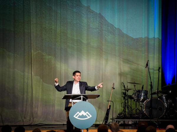 """Russell Moore preaching during the first plenary address, """"Black, And White And Red All Over: Why Racial Reconciliation Is A Gospel Issue."""""""