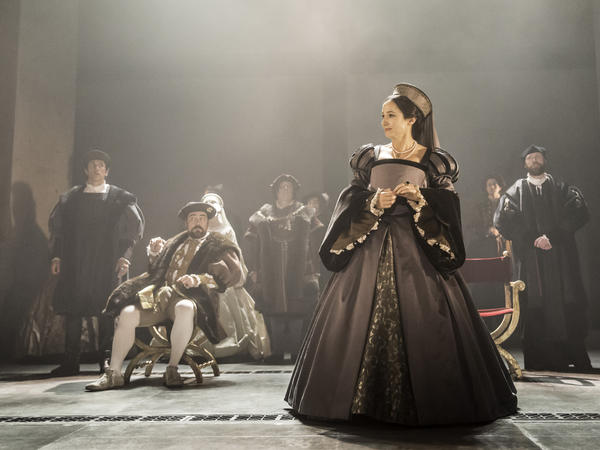 Lydia Leonard plays Anne Boleyn, Henry VIII's second wife, in the theater adaptation of Mantel's novels. Cromwell helped pave the way for both Boleyn's marriage and beheading.