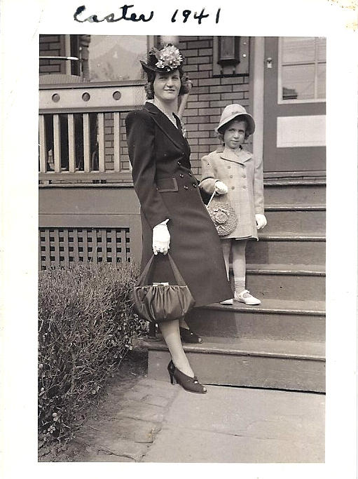 Grace Belford, pictured here at Easter in 1941 with Patricia, Diana Abu-Jaber's mother.