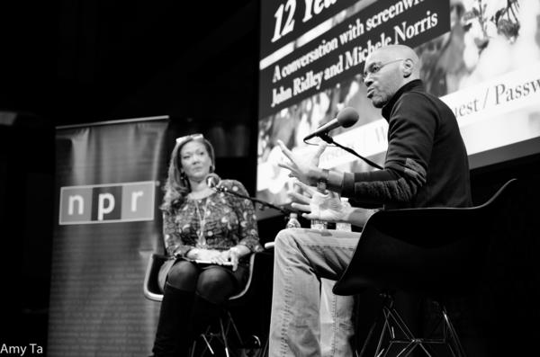 John Ridley answers a question from the audience at NPR's headquarters.