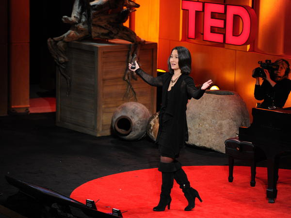Cynthia Breazeal speaks during TEDWomen.