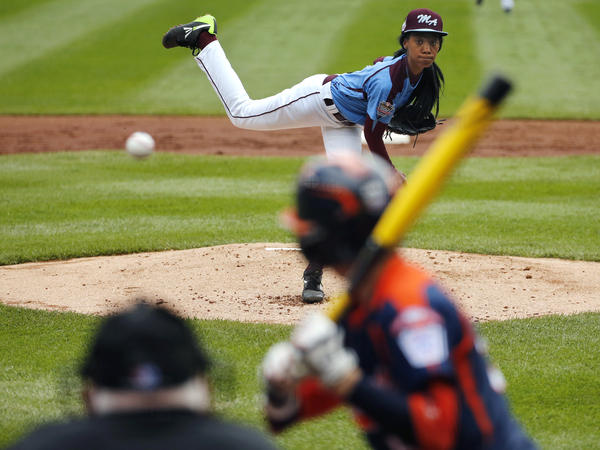When behind the plate for one of Mo'ne Davis' 70 mph pitches, try not to blink.