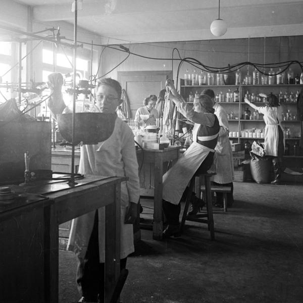 Acids, alcohol and pancreatic tissue were separated, bathed and mixed in this laboratory of a 1946 insulin factory in Bielefeld, Germany.