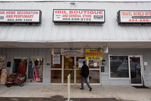 The Somali American Community Center is located in a shopping center that caters primarily to Somalis.