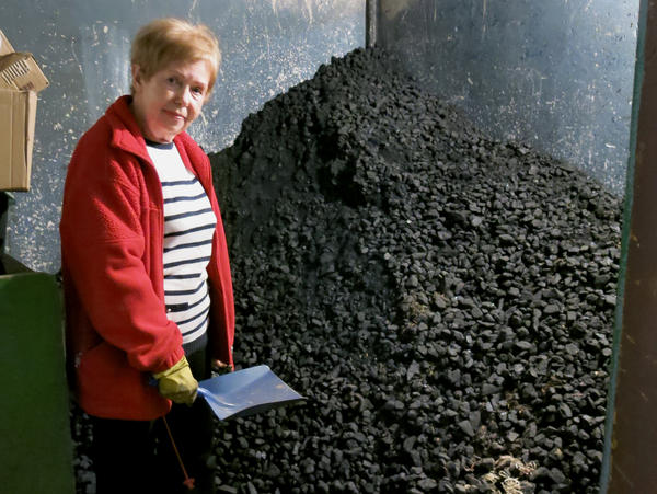 Arleta Wolek, a 73-year-old retired production line worker in Krakow, keeps her coal-burning stove in her basement. She feeds the 4-year-old stove from a nearby pile of coal that's almost as tall as she is.