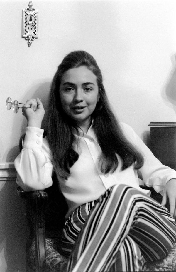 "Hillary Clinton in June 1969 at the Rodham family home. She was featured in a <em>Life</em> magazine story called ""The Class of '69."""