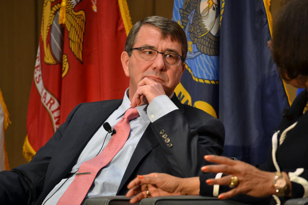 Defense Secretary Ashton Carter speaks at Syracuse University on service members transitioning out of the military.
