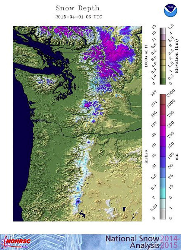 Washington officials say the state is experiencing a 'snowpack drought.'
