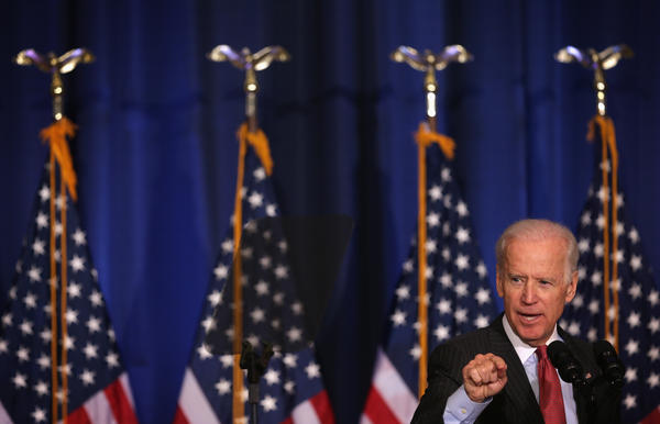 Vice President Biden delivers remarks on U.S. policy in Iraq at the National Defense University in Washington, D.C., on Thursday.