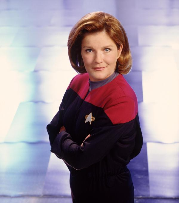Mulgrew starred as Captain Kathryn Janeway, the first woman to command a Federation Starship, in <em>Star Trek: Voyager.</em>