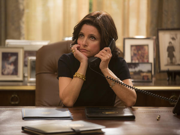 Julia Louis-Dreyfus as Selina Meyer on HBO's <em>Veep</em>.
