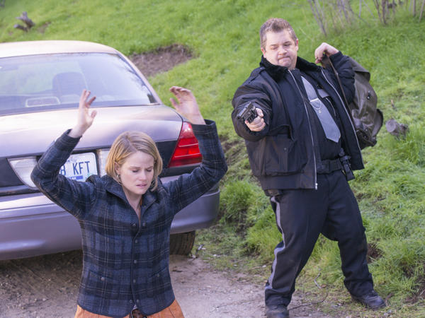 Ava Crowder (Joelle Carter) and Constable Bob (Patton Oswalt).
