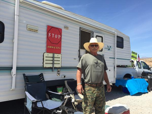 Robert Crooks, founder of the Mountain Minutemen, and others returned to Cliven Bundy's ranch over the weekend to mark one year since the armed standoff,  and to claim victory in their cause against the federal government.