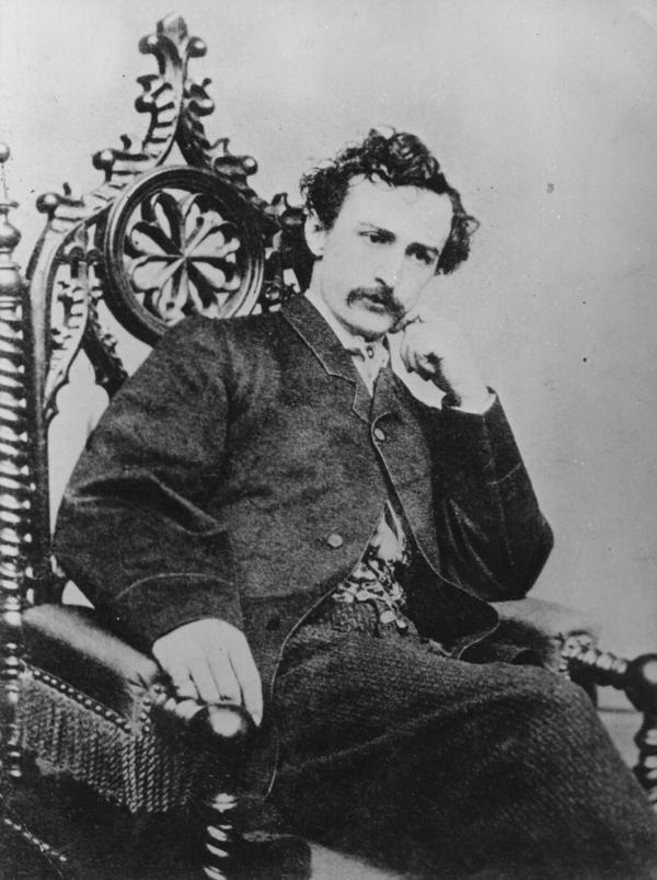 John Wilkes Booth was the son of prominent, wealthy actors. He, too, became an actor and was so popular, he was one of the first to have his clothes ripped off by fans.