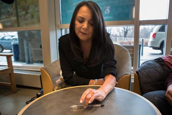 Martha Galvis has undergone 16 surgeries on her left hand, which was injured by a bomb at the 2013 Boston Marathon.