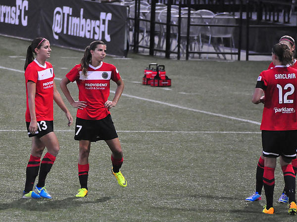 The U.S. Women's National Team has called up Portland Thorns teammates Alex Morgan, left, and Tobin Heath for the FIFA Women's World Cup. Christine SInclar, far right, will play for Team Canada.
