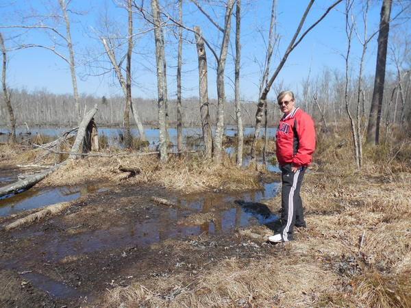 Eddie Roberts, vice president of the Dr. Mudd Society on the edge of Zekiah Swamp