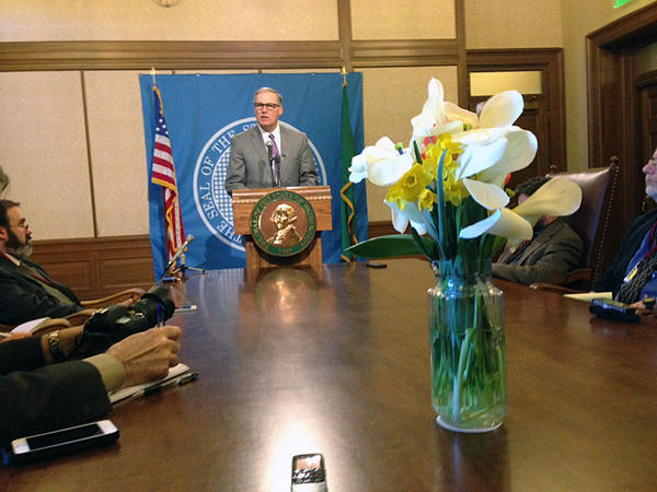 At a general media availability, Washington Governor Jay Inslee tried to reassure medical marijuana patients who are concerned that regulation of the industry will restrict their access to medical grade cannabis.