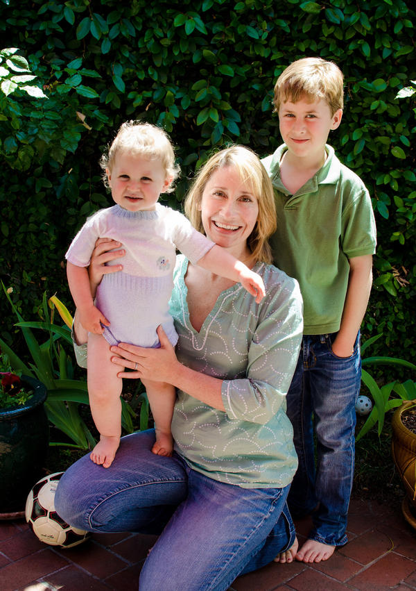 Caryn Hoadley, 45, from Alameda, Calif., with her two children. Hoadley received a letter that said her mammogram was clean but that she has dense breast tissue, which has been linked to higher rates of breast cancer