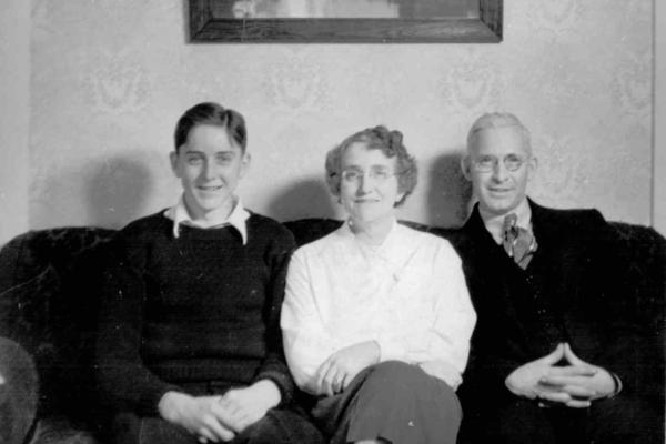 Edwin Hopkins with his mother, Alice, and father, Frank Jr. Hopkins was killed aboard the USS Oklahoma during the Japanese bombing of Pearl Harbor, but his remains never were identified.