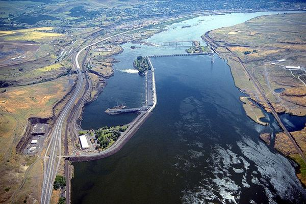 Celilo Dalls has been covered by about 40 feet of water since the construction of The Dalles Dam in 1957.