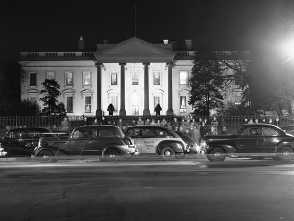 "The road in front of the White House, seen here in 1941, was a major thoroughfare dubbed ""America's Main Street."""