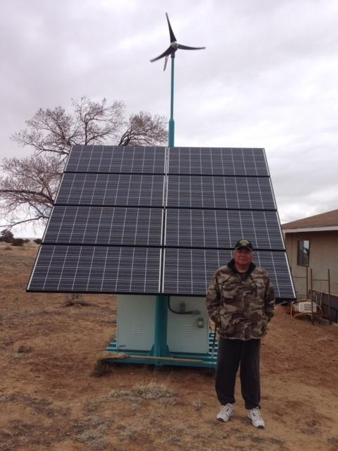 This solar panel unit cost about $17,000, less than half as much as it costs to extend the electrical grid a mile. Thompson pays the power company $75 a month to maintain and service the unit.
