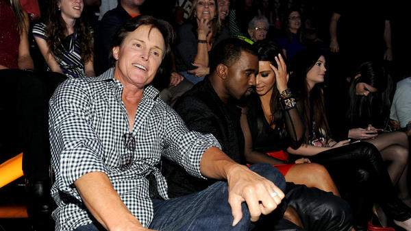 """From left, Bruce Jenner, Kanye West and Kim Kardashian attend FOX's """"The X Factor"""" Season 2 Top 10 Live Performance Show on Nov. 21, 2012 in Hollywood, California."""