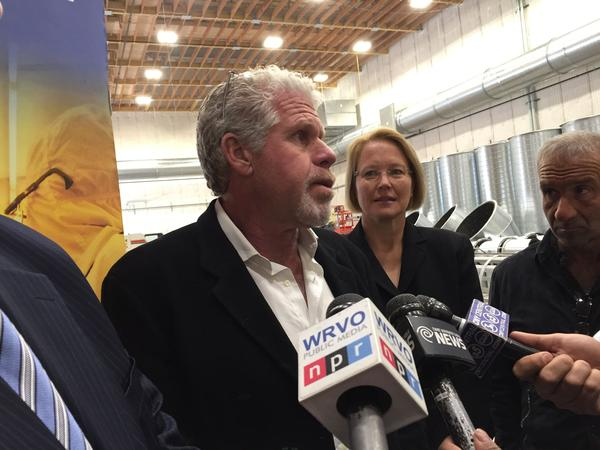 Actor and producer Ron Perlman touring the new nano facility in DeWitt
