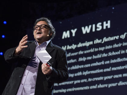 Sugata Mitra at the TED conference in 2013.