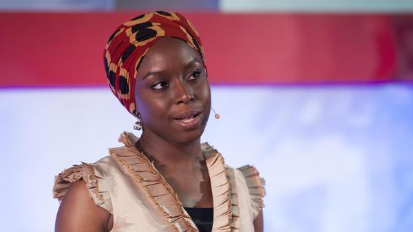 Writer Chimamanda Adichie speaking at TEDGlobal.