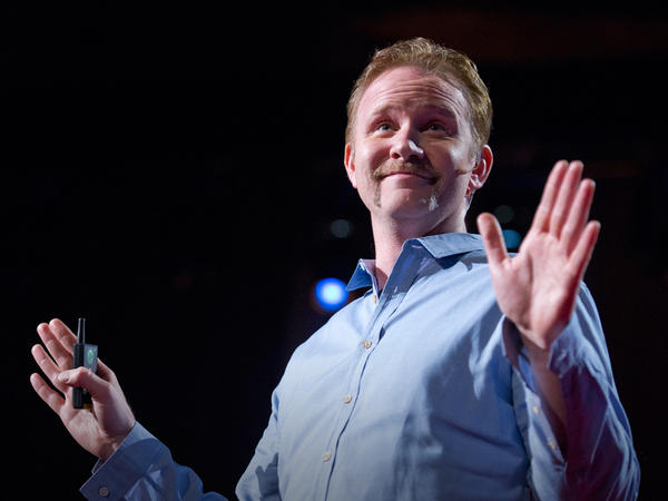 Filmmaker Morgan Spurlock at TED.