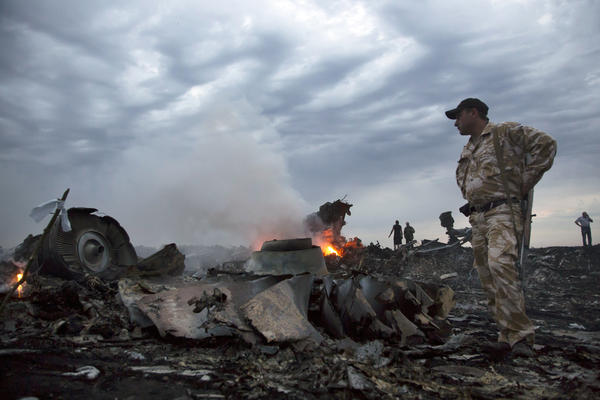 Malaysia Airlines lost contact with Flight MH17 when it was about 25 miles from the Russia-Ukraine border. U.S. officials tell NPR that the airliner was likely shot down by a surface-to-air missile.