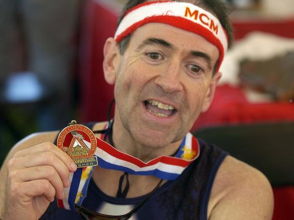 Huckabee ran the Marine Corps Marathon in 2005.