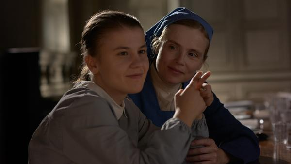 Ariana Rivoire and Isabelle Carré in <em>Marie's Story</em>.