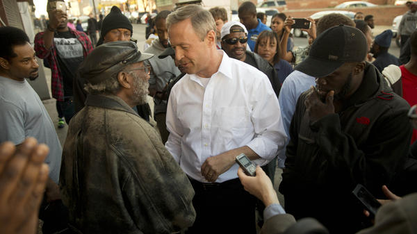 "Former Maryland Gov. Martin O'Malley canceled a trip to Europe to try to be part of the solution in Baltimore. That got sidetracked when reporters picked up on comments from city residents who criticized his ""tough on crime"" policing policies."
