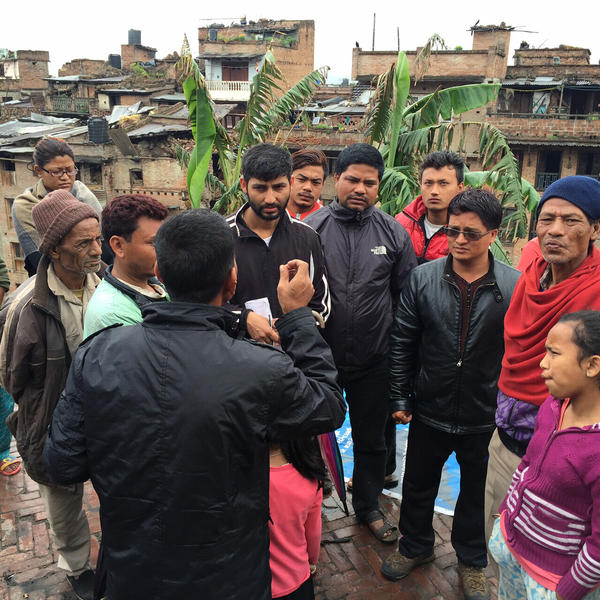People in Bahktapur, Nepal, say aid is only going to people who have influence in their city and the rest are left to fighting over a few tarps.