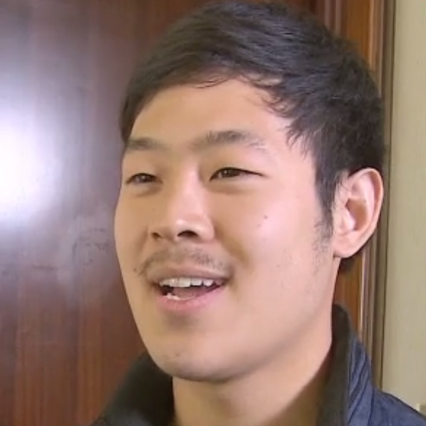 A screen grab from Joo Won-moon's interview with CNN from Pyongyang on Tuesday.