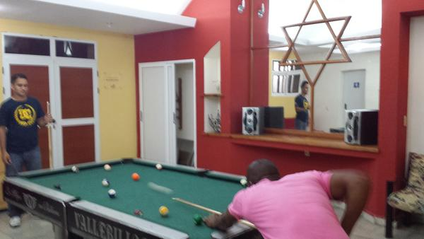Pool room in Patronada