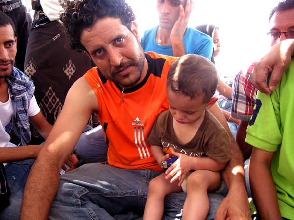 Ahmed Omar's 2-year-old son, Mohamed, was one of the youngest American citizens escaping Yemen on board the Amiri Red Sea<em>.</em>
