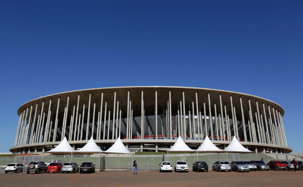 Brazil spent billions renovating and building World Cup stadiums. Almost a year after the tournament ended, the nation is still trying to figure out what to do with them. The Mane Garrincha Stadium in Brasilia, Brazil (shown here in April 2014), was the most expensive of the stadiums — at a cost of $550 million — and is now being used as a bus parking lot.