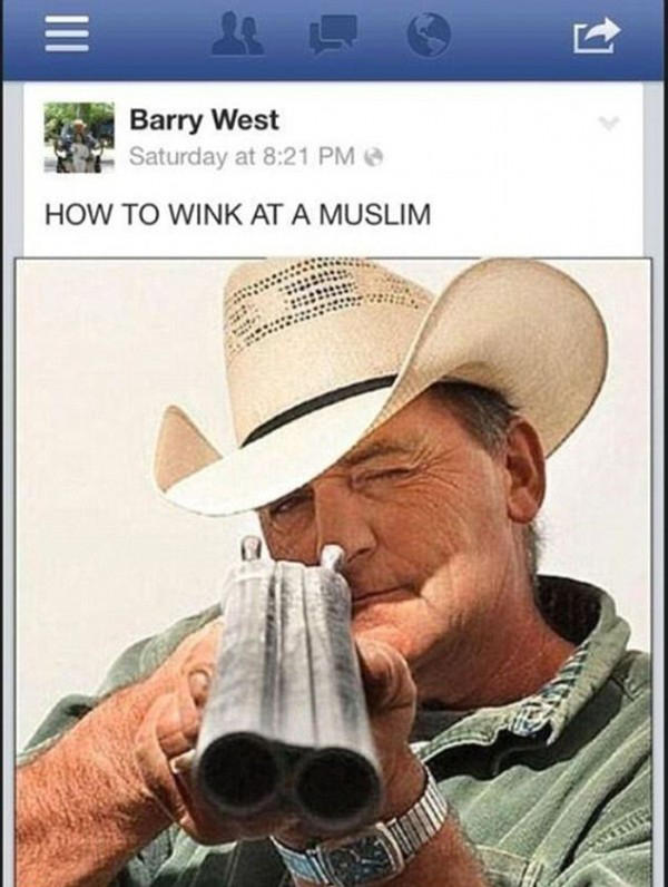 Barry West, commissioner for Coffee County in Middle Tennessee, posted this picture to his Facebook page, which inspired some material for the show. (Barry West/Facebook)