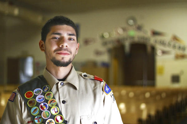 Jonathan Moncilla, 18, is one of Vasquez's newest Eagle Scouts.