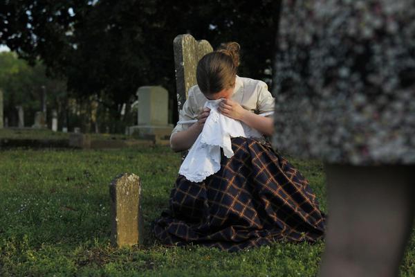 Laurel Lancaster, 16, performs as Sallie Alexander, who helped redefine gender roles for women in the Civil War era.
