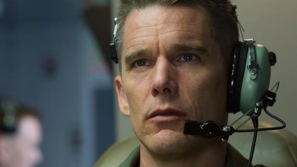 Ethan Hawke plays an Air Force commander engaged in drone warfare in Andrew Niccol's <em>Good Kill.</em>
