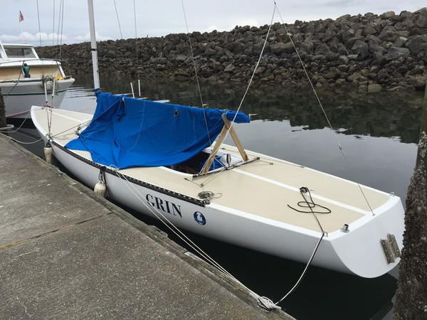 Team Grin plans to race to Alaska in this Etchells 22, currently moored in Port Townsend, Washington.