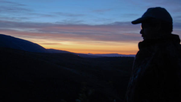 <p>Kyle Winton watches for trespassers into Oak Creek Wildlife Area.</p>
