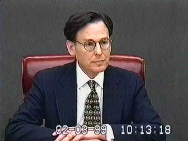 Blumenthal was one of just four witnesses deposed by the U.S. Senate when it tried (and acquitted) Clinton on the impeachment charges early in 1999.