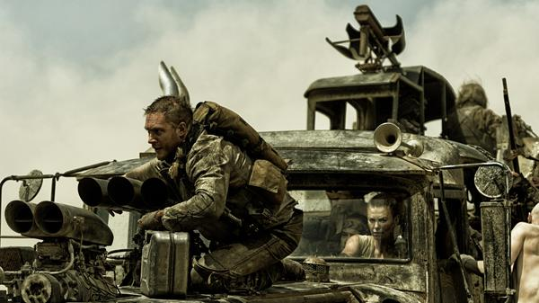 Tom Hardy as Max Rockatansky and Charlize Theron as Imperator Furiosa.